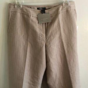 NWT Liz Claiborne beige pinstriped pants. Size 14R